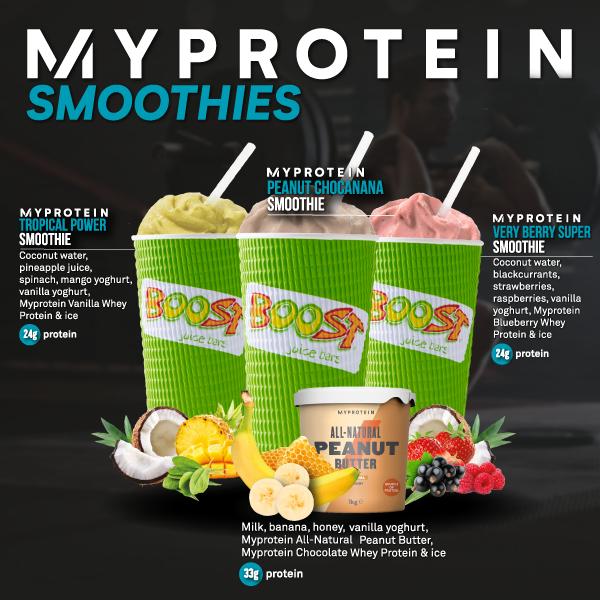Boost X Myprotein Boost Juice Uk